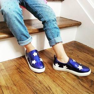 Kids Metallic Star Slip-On Shoe